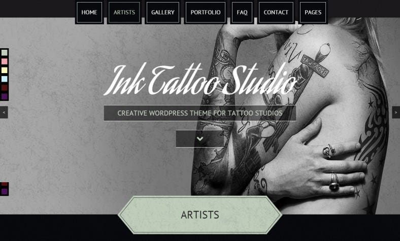 Creative Ink Tattoo WordPress Template