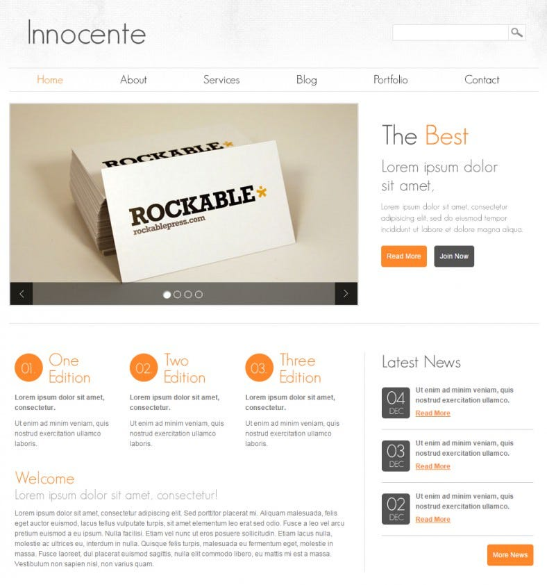 innocente clean and minimalist gallery html theme 788x842