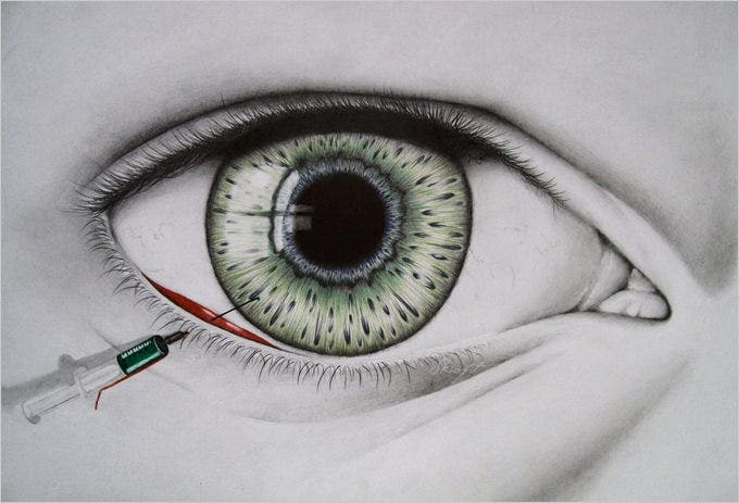 insomnia eye drawing