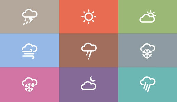 inspired weather icons set