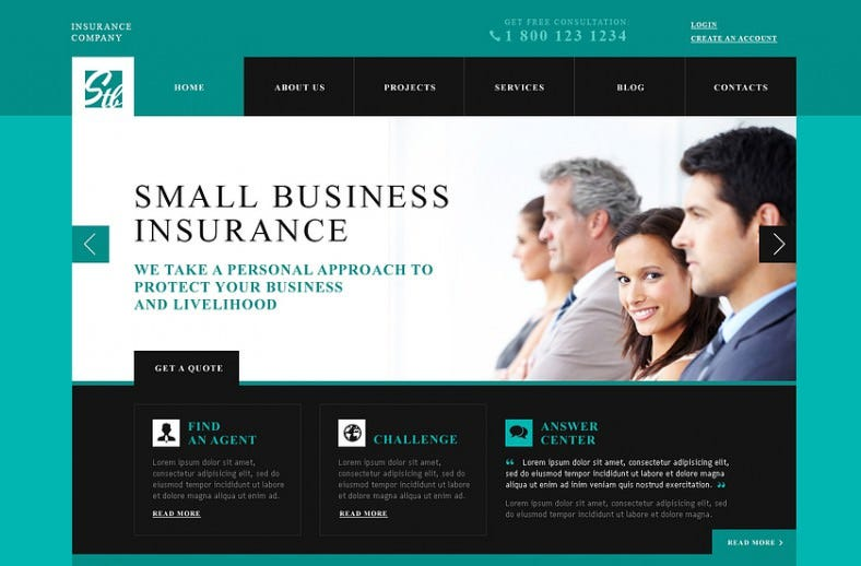 Insurance Advisor WordPress Theme