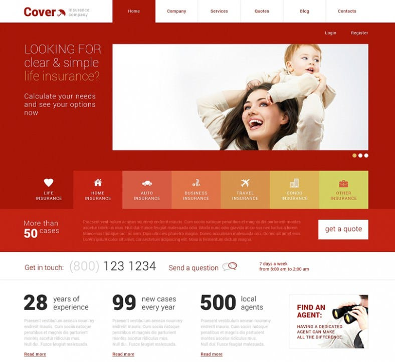 Simple Insurance Responsive WordPress Theme