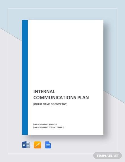 internal communications plan template