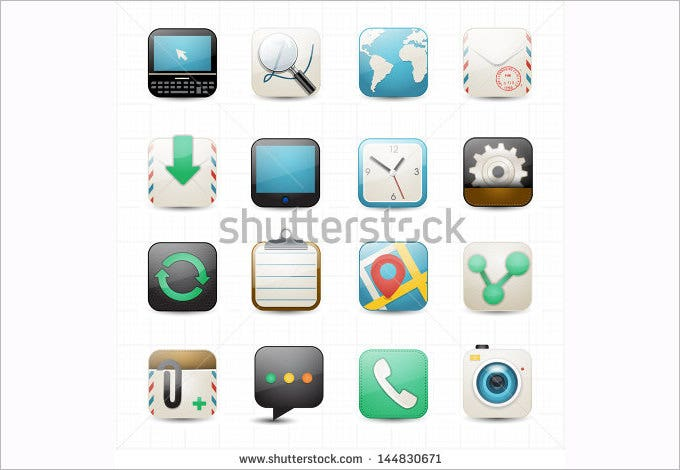 internet web and setting icons