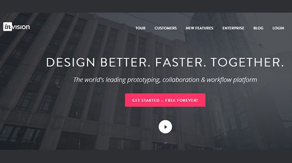 invision prototyping tool