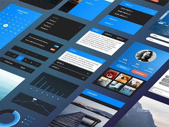 iphone6 free ui psd template