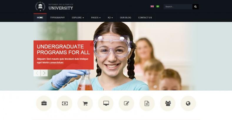 Responsive University Joomla Template
