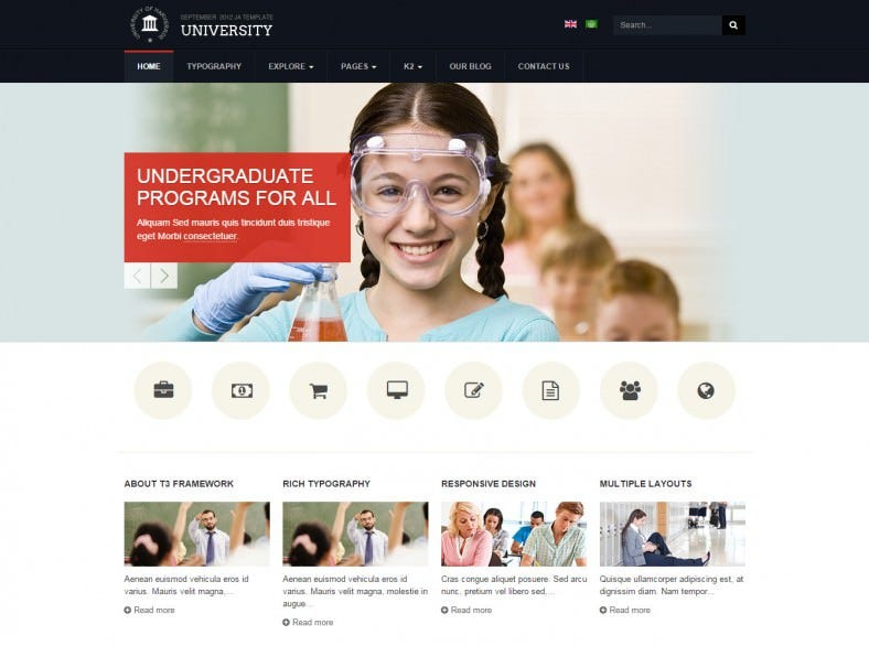 ja university school joomla theme 788x586