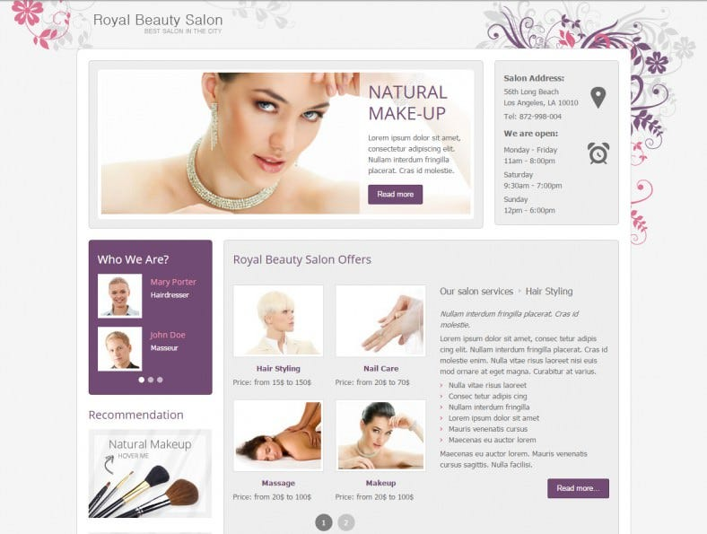 jm royal makeup artist joomla template 49 788x595