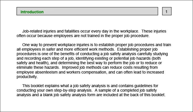 Job Safety Analysis PDF  Job Safety Analysis Form Template