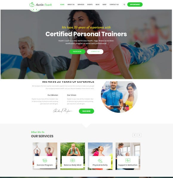 joomla template for fitness personal life coaching