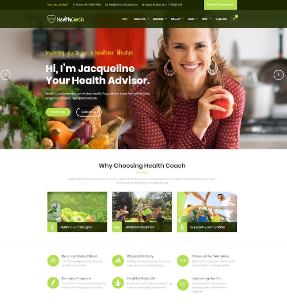 joomla template for fitness