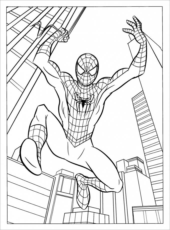30 spiderman colouring pages printable colouring pages free jumping spiderman voltagebd Image collections