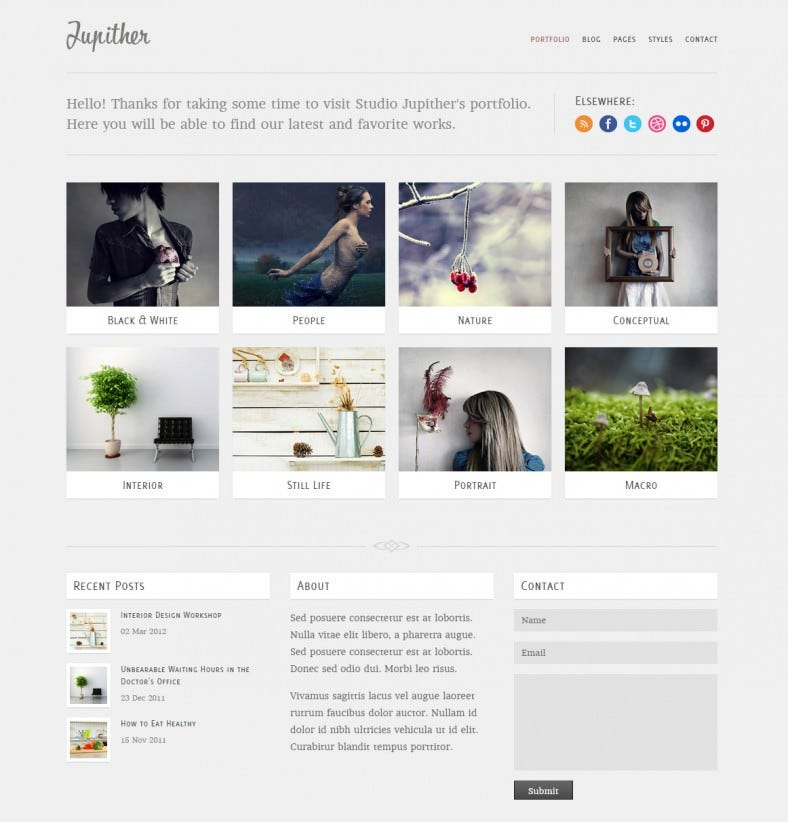 jupither responsive html gallery template 788x822