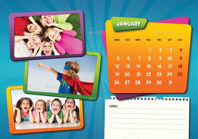 Kids Calendar Template 9 Free Calendar Templates Download Free