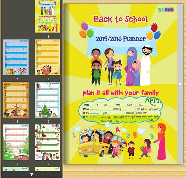 Family Calendar Template  Free Psd EpsAi Format Download
