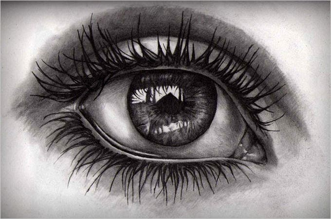 killer eye pencil drawing