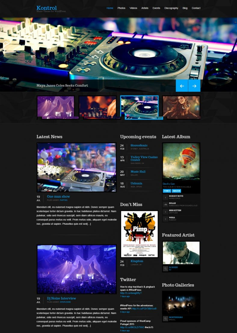 kontrol dj wordpress template 788x1104