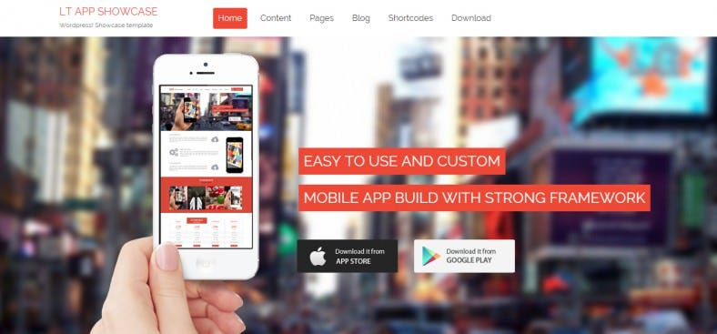 App developers WordPress Theme
