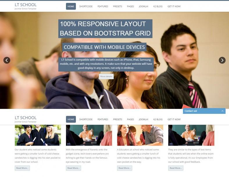 lt school responsive school joomla template 788x608