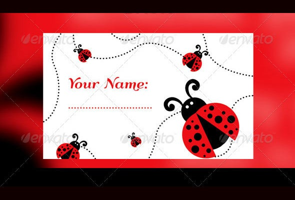 lady bugs babi raffle flyertemplate
