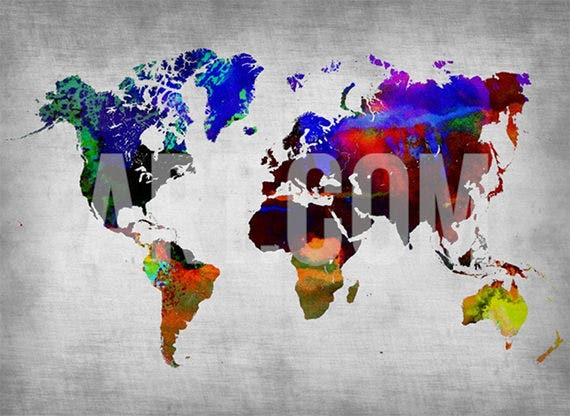 30 world map psd posters free psd posters download free the large world map poster template has a high rating due to its wonderful colours and sharp details the colourful poster can be used as a wall art in gumiabroncs Gallery