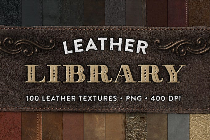 leather library 100 textures