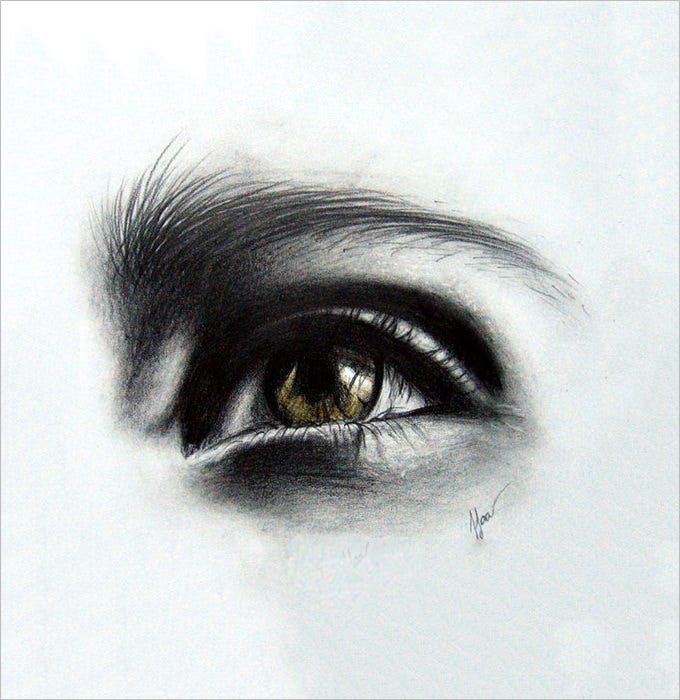 light eye pencil drawing 1