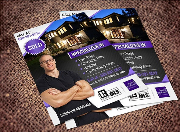 local gym postcard flyer template