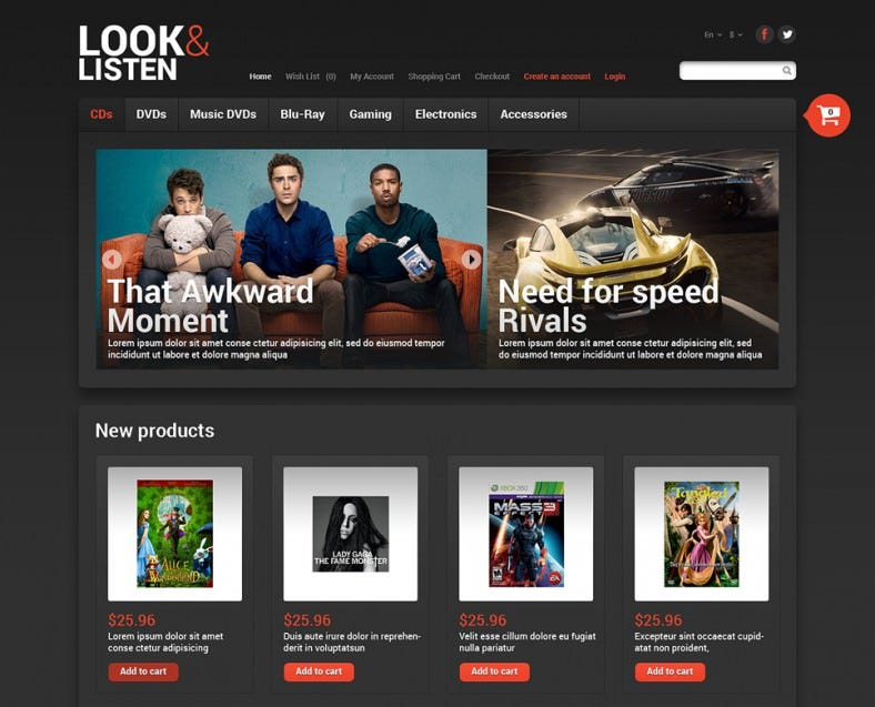 Look & Play OpenCart Template