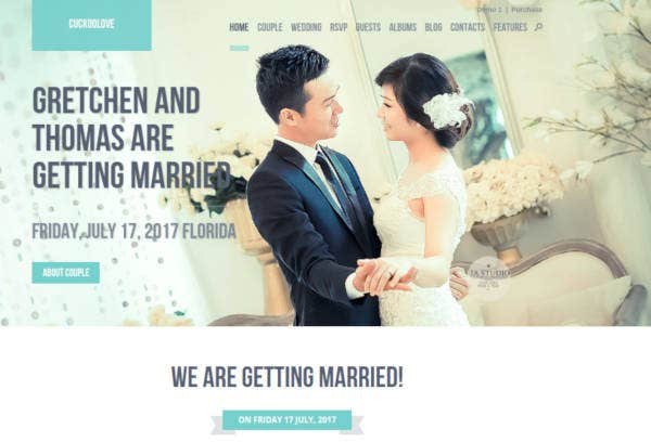 love wedding wordpress template 60