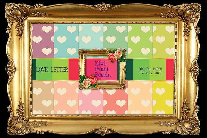 love letter heart patterns