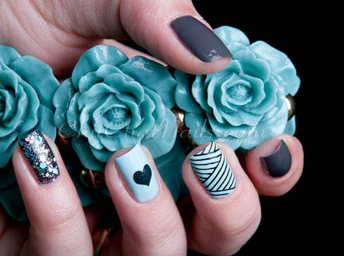 lovely easter nail art