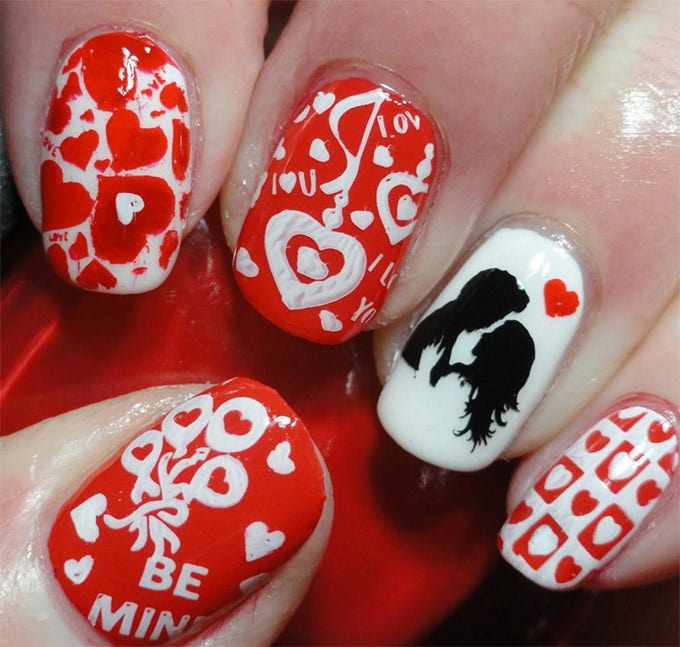 20 valentines nail designs ideas free premium templates this valentines day acrylic nails will be very difficult to paint yourself and it is better to get a professional help in case you want the exact design solutioingenieria Choice Image