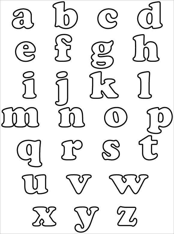 lower case bubble letters free download