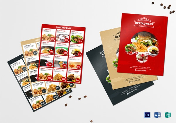 lunch menu template in psd