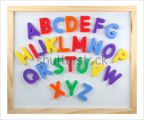 magnet nursery alphabet letters collection