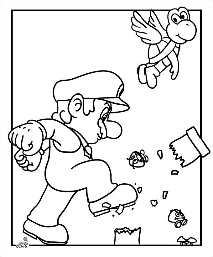 mario brothers coloring pages free - photo#21