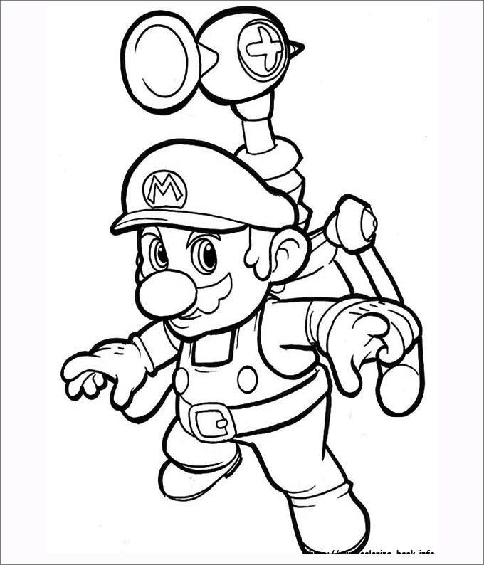 mario bro yoshi coloring pages - photo#42