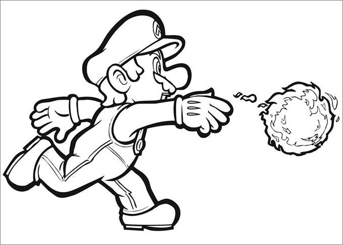 printable pdf mario coloring pages