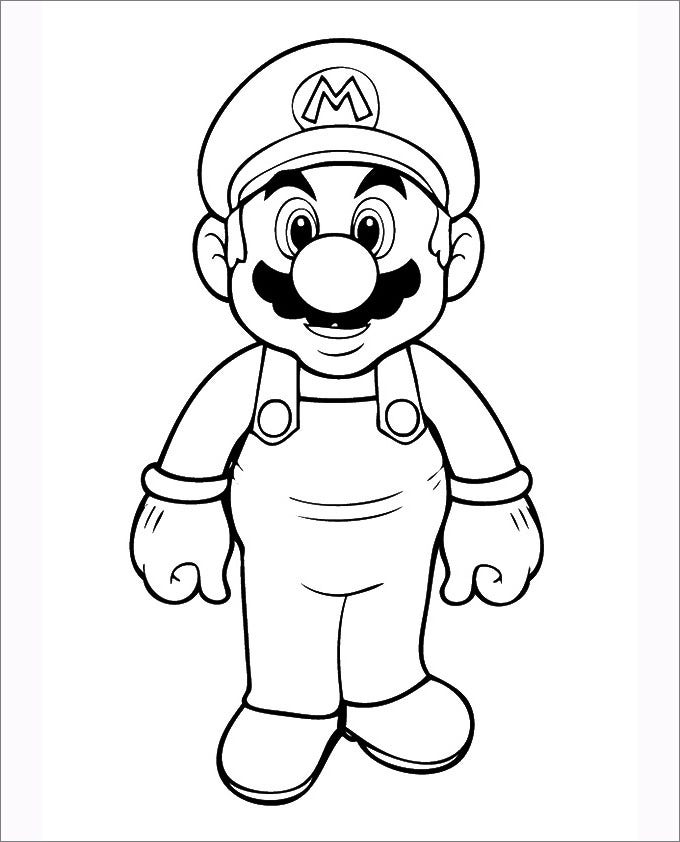 mario standing with happy face