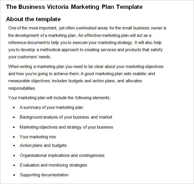 Marketing Business Plan - Free Word Pdf Documents Download | Free