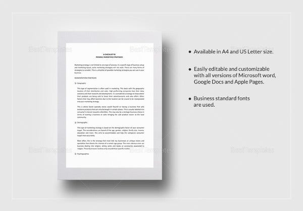 marketing-strategies-checklist-template-in-word-format