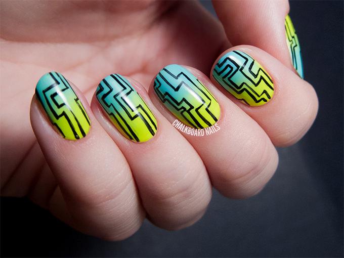 maze type creative nail art