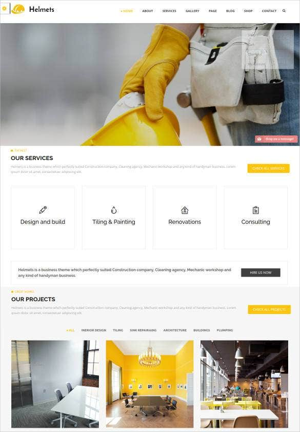 mechanical engineering website template1