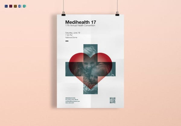 medical convention poster template