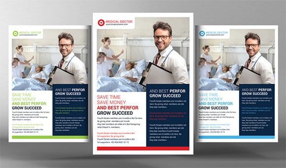 medical doctor poster template