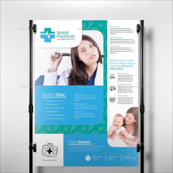 medical practitioner poster template