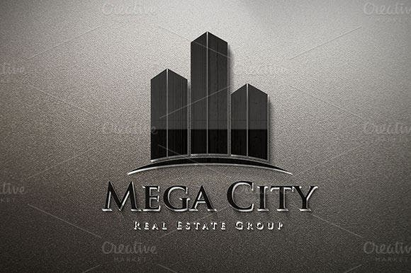 mega city construction company logo