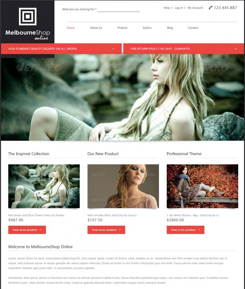 melbourne shop business html gallery theme 788x928